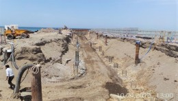 Piling, Shoring & Dewatering Works For The Construction Of East Side Sea Wall At Bait AL Barkah